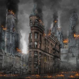 Ville en feu