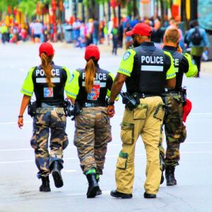 policiers québécois en période de négociation